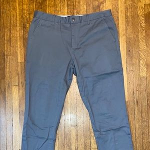 Grey Chino Pant By Five Four - Straight Fit